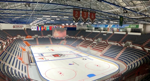Russian hockey rink